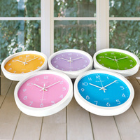 Wall clock household rustic cartoon wall clock brief clock fashion clock