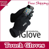 IGlove Screen Touch Gloves with High grade packaging, Unisex  Winter Gloves for Iphone , 2 colors for choose ,Free Shipping