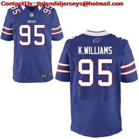 WHOLESALE-NEW BRAND-Buffalo #95 Kyle Williams Elite Blue,White Jersey,American Football Jersey,Embroidery logos,Free Shipping
