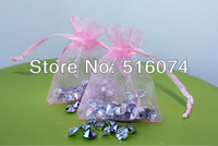 100x Light pink Organza Pouch Gift Bags Fit Wedding