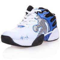 2013 male sport shoes Men medium cut basketball shoes fashion color block decoration basketball shoes slip-resistant