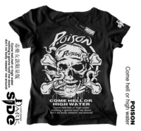2012 women's 100% cotton t-shirt poison Women limited edition