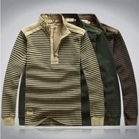 2013 brand men's sweater thick cardigans wool cotton coat 6 colors  big size Free Shipping  117