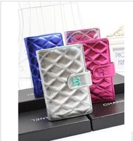 2013 new arrival Fragrant C genuine leather embossed contrast color short two-fold wallet women bag  Free shipping