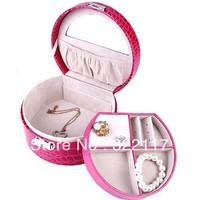 New arrive PU Leather crocodile designs jewelry accessories box