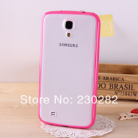 Case for cells phone s4 mini Candy Color tpu frame+matte PC backside case for Samsung Galaxy s4 mini i9190 case soft border