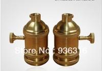 Free shpping Edison copper knob  Lamp holder cap E27/E26 Bare knob switch lamp chandelier lamp dedicated