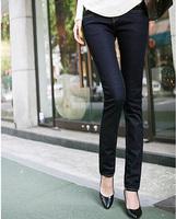 4xl hip 125cm 120cm autumn plus size denim trousers female mm skinny pants mid waist jeans female trousers