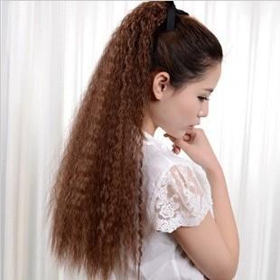 Прическа хвост на кудрявые волосы