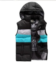 2013 free delivery cotton casual men's vest jacket silk vest sports vest winter coat male models