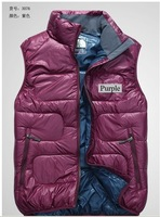 2012 Free Shipping Top Quality 1pcs/lot Brand New Men's Down vest & Down Outerwear Size M,L,XL,XXL