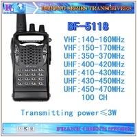 Handheld Transceiver Beifeng Two Way Radio VHF/UHF Multiband Transceiver  BF-5118 Free Shipping