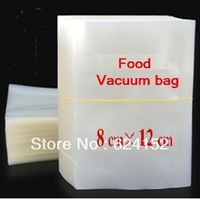 8*12cm 0.16mm thickness clear food vacuum bag dried fruits rice tea meat retain freshness packing