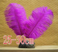 free shipping !!!hot on sale#purple ostrich feathers & quantity optional 25-30cm!!!