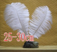 free shipping !!!hot on sale#white  ostrich feathers & quantity optional 25-30cm!!!