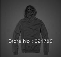 Free shiping,2013 fashion black men cotton casual hoodies sweatshirts,solid autumn sport casual sweatshirt