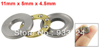 11mm x 5mm x 4.5mm Silver Tone Metal Ball Thrust Bearing