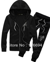 2013 autumn outfit Korean version long-sleeved cardigan sweater Hooded men and women sports suit lovers casual sportswear h587