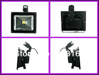 DHL Free Shipping 10pcs/lot Promotion New PIR 20w Led Floodlight/Led Motion Sensor Flood lamp Gray or Black Shell