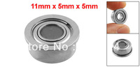 11mm x 5mm x 5mm Radial Shielded Deep Groove Flanged Ball Bearing