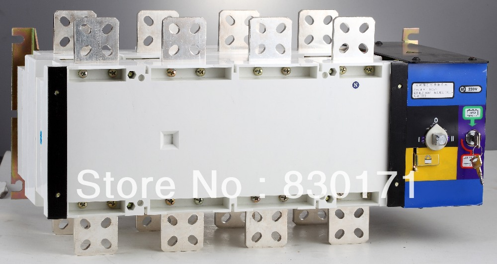 GLD Series automatic changeover switch SOCOMEC 1000A 4POLE 3 POLE 3 PHASE 220V AC(China (Mainland))