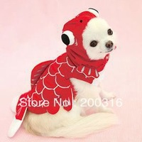 Big Wholesale New Arrival Goldfish Style Pet Dog's cloth Free shipping