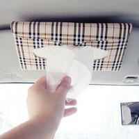 Car sun-shading board tissue bag car tissue box car paper towel bag hanging auto supplies decoration
