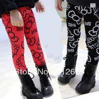 5pcs/lot Hello kitty leggings for girls winter bootcut boots pants children fleece pant trousers free shipping