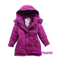 Small mouse topolino female child medium-long wadded jacket autumn and winter child cotton-padded jacket cotton-padded jacket
