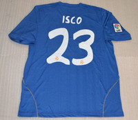 Real madrid away blue ISCO #23 top thai quality soccer jersey(only shirts) with Embroidery LFP 13/14 + can customs names&numbers