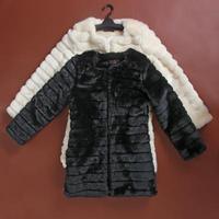 2013 slim fur coat medium-long outerwear artificial faux fur outerwear