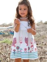 Vertbaudet female child spaghetti strap tank dress 2014 Kids Girls Dress cute color sleeveless dress  children's clothing