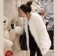2013 faux medium-long outerwear wool medium-long ladies elegant autumn and winter fur wool overcoat