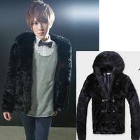 Fur overcoat 2013 fur coat faux fur male velvet fur coat men's clothing