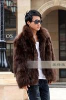 Faux fur coat 2013 men's clothing fox outerwear faux fur men's clothing faux Men