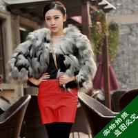 2013 popular female fur coat faux fur women's faux fur wool outerwear