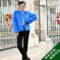 2013 faux fur wool outerwear female fur coat outerwear fashion short fur women's