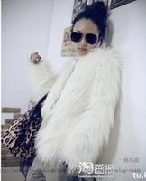 2013 fur fashion coat fashion outerwear autumn and winter medium-long fur overcoat