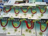 Four leaf clover lucky grass wholesale bracelet luminous/ transparent crystal pendant with red  rope Amulet bracelet