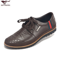 Septwolves men's cowhide casual shoes commercial genuine leather male leather fashion male shoes