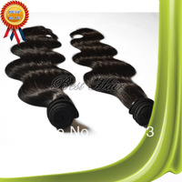 "100% Unprocessed hair Grade 5A Mixed Lengths 3pcs/lot Brazilian Virgin Hair Extensions 100% Human Body Wave 12""-34"" #1B"