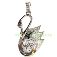 Golden Crystal Swan Model 2GB - 32GB USB Memory Stick Flash pen Drive