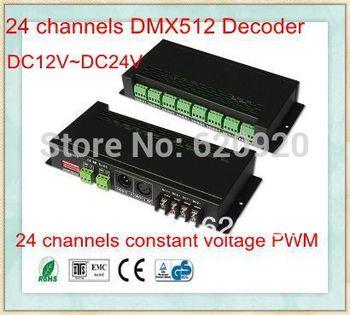 led driver,24 channels DMX512 Decoder/ RGB DMX512 Controller
