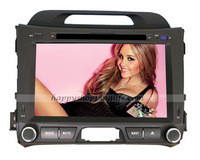 Android Kia Sportage Car DVD Player GPS Navigation 3G Wifi Bluetooth Touch Screen USB SD support Virtual N Disc 1080P HD