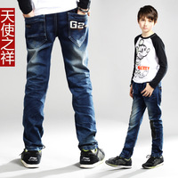 Children's clothing male child 2013 child jeans casual all-match 100% student cotton pants jeans