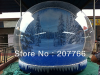 Giant outdoor holiday decoration inflatable globe clear bubble tent product promotion booth tent  7m