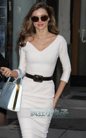Free shipping 2013 spring new arrival women's victoria white sexy slim hip slim one-piece dress  +gift