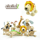 Free shipping!!Anamalz wooden animal dolls movable joints educational dolls 24designs 6pcs for a lot(China (Mainland))