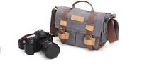 Messenger Style Canvas DSLR Camera Shoulder Bag BBK-2 for Nikon Canon