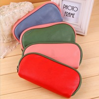 9103 Free Shipping  Kawaii Kids School Stationery,Novelty Leather 4 Colors Students Pen Bag